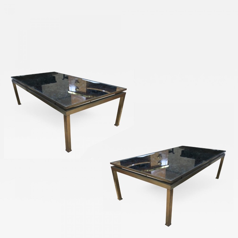 Guy Lefevre Pair Of Big Coffee Tables