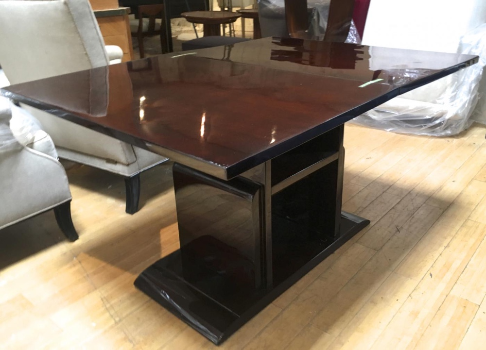 Jacques Adnet Console Folding Into A Dining Table Dinning Table Tables Galerie Andre Hayat