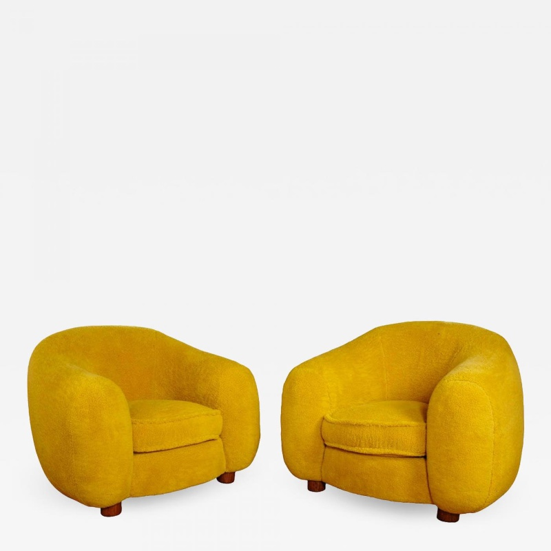 Jean Royere Genuine Iconic Ours Polaire Pair Of Armchairs Arm