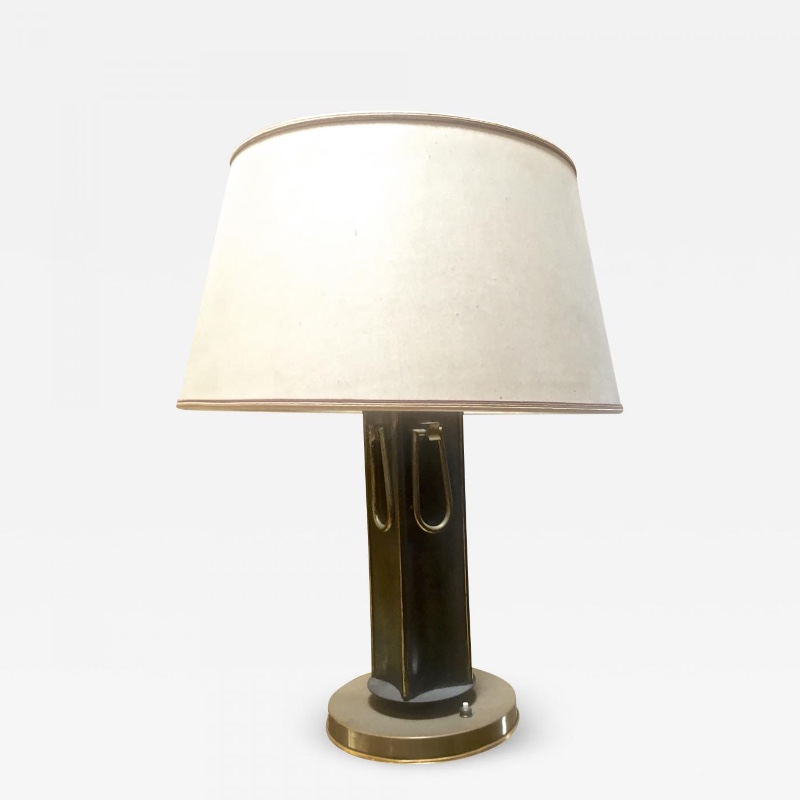 Marcel Asselbur 1950s Four Rings Table Lamp