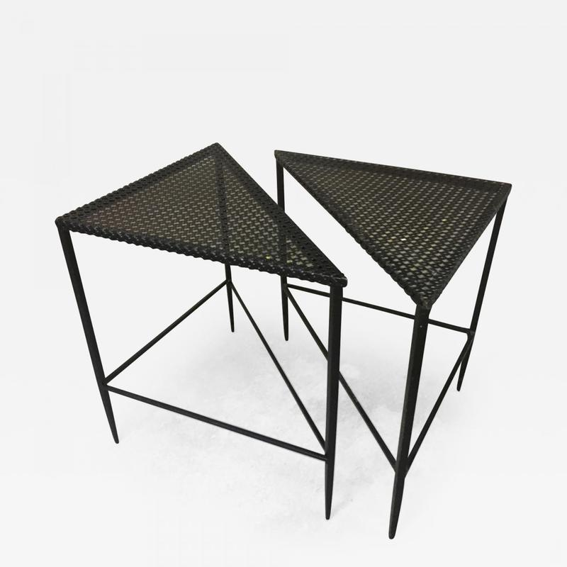mathieu matégot pair triangle coffee table coffee table tables
