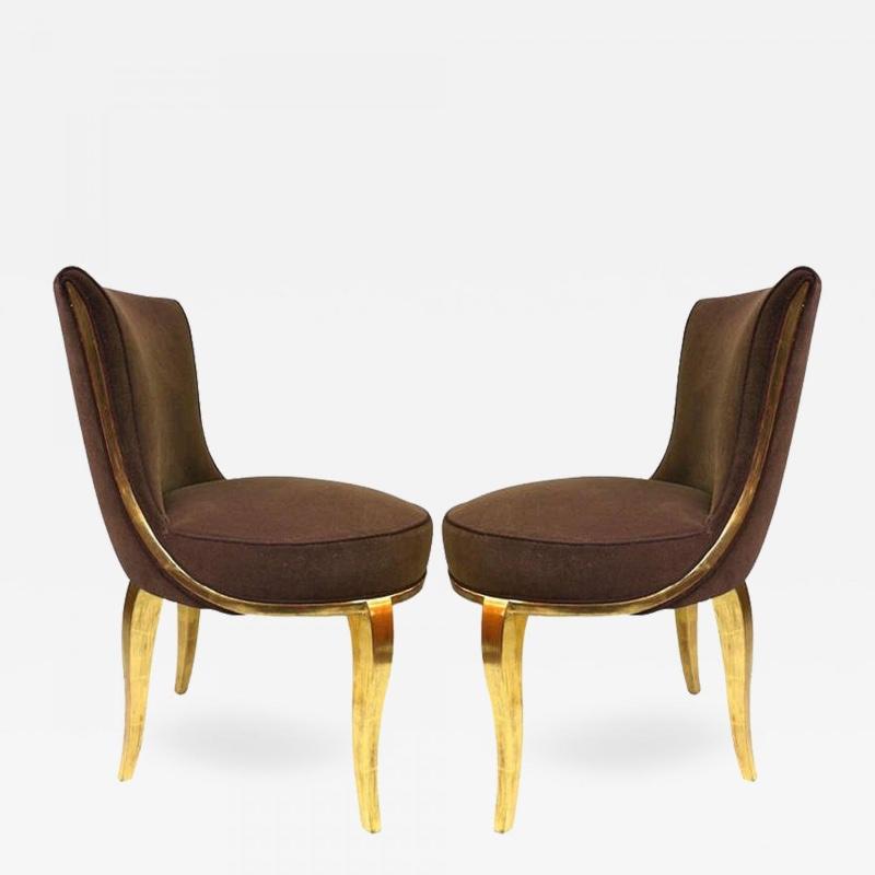 Paul Follot Exquisite Pair Boudoir Chairs